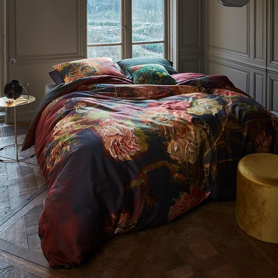 Beddinghouse Van Gogh Vase with Chinese Asters & Gladioli Cotton Sateen Quilt Cover Set, King