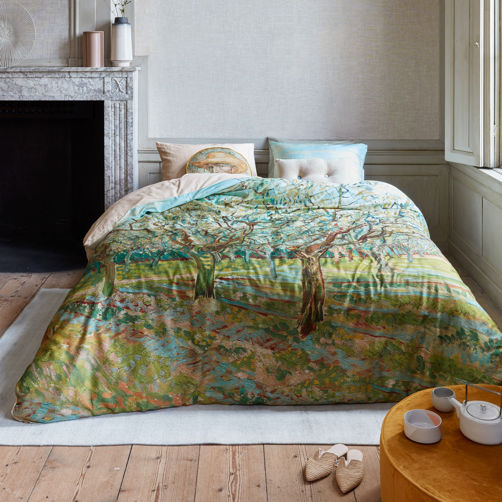 Beddinghouse Van Gogh The White Orchard Cotton Sateen Quilt Cover Set, Queen