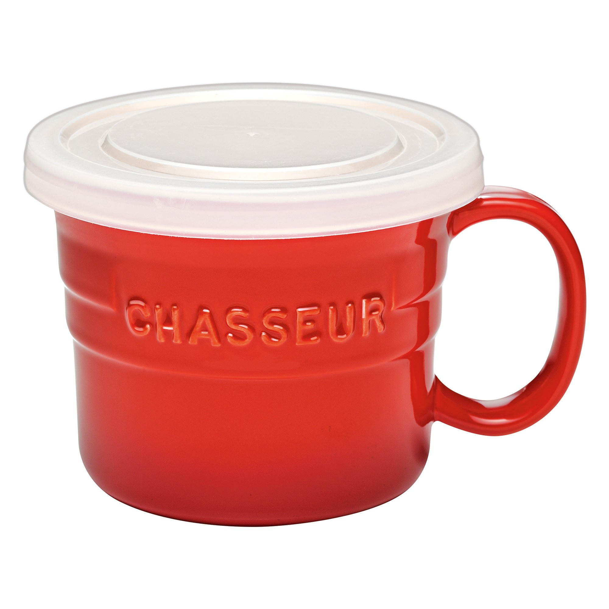 Chasseur La Cuisson Soup Mug with Lid, 500ml, Red