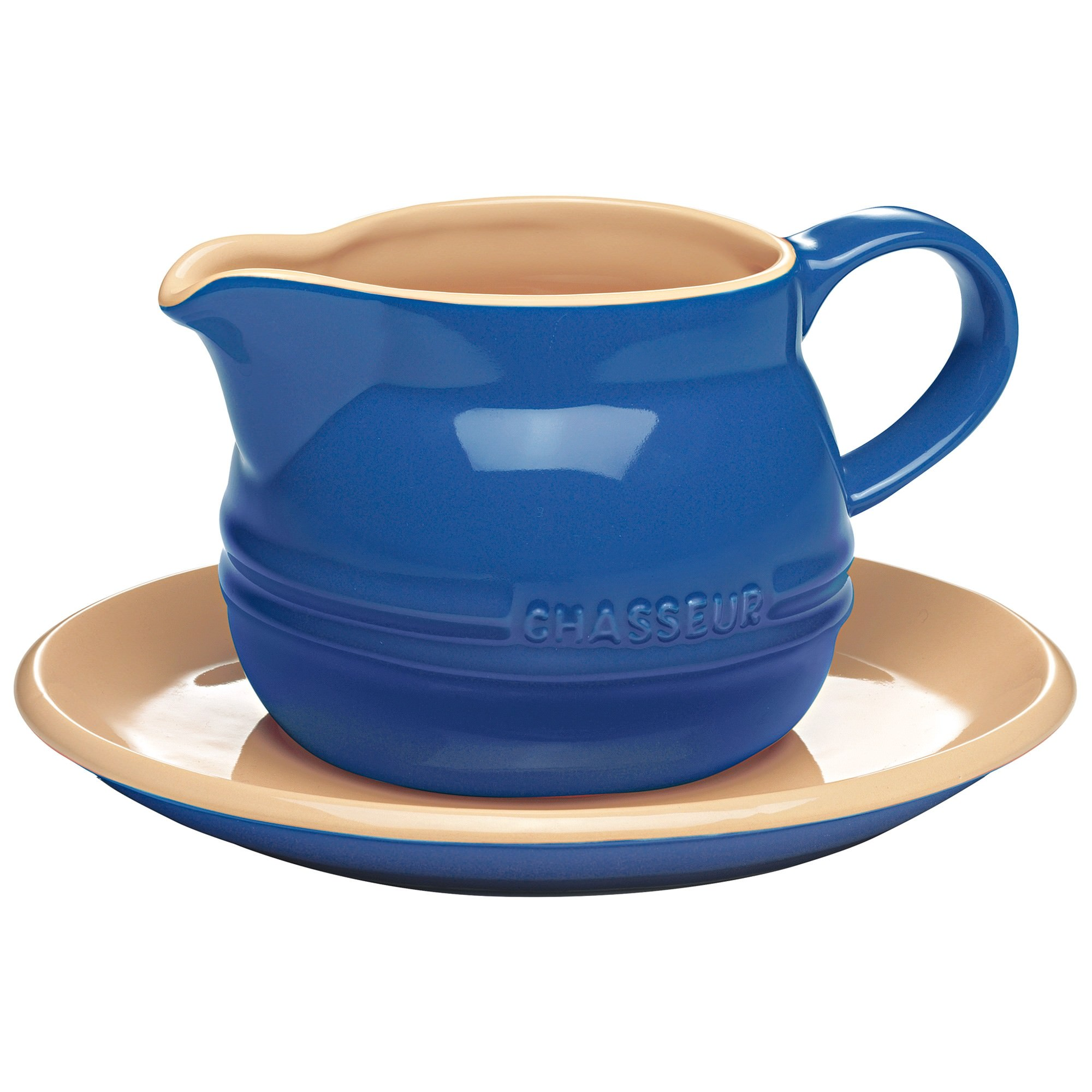 Chasseur La Cuisson 450ml Gravy Boat with Saucer - Blue