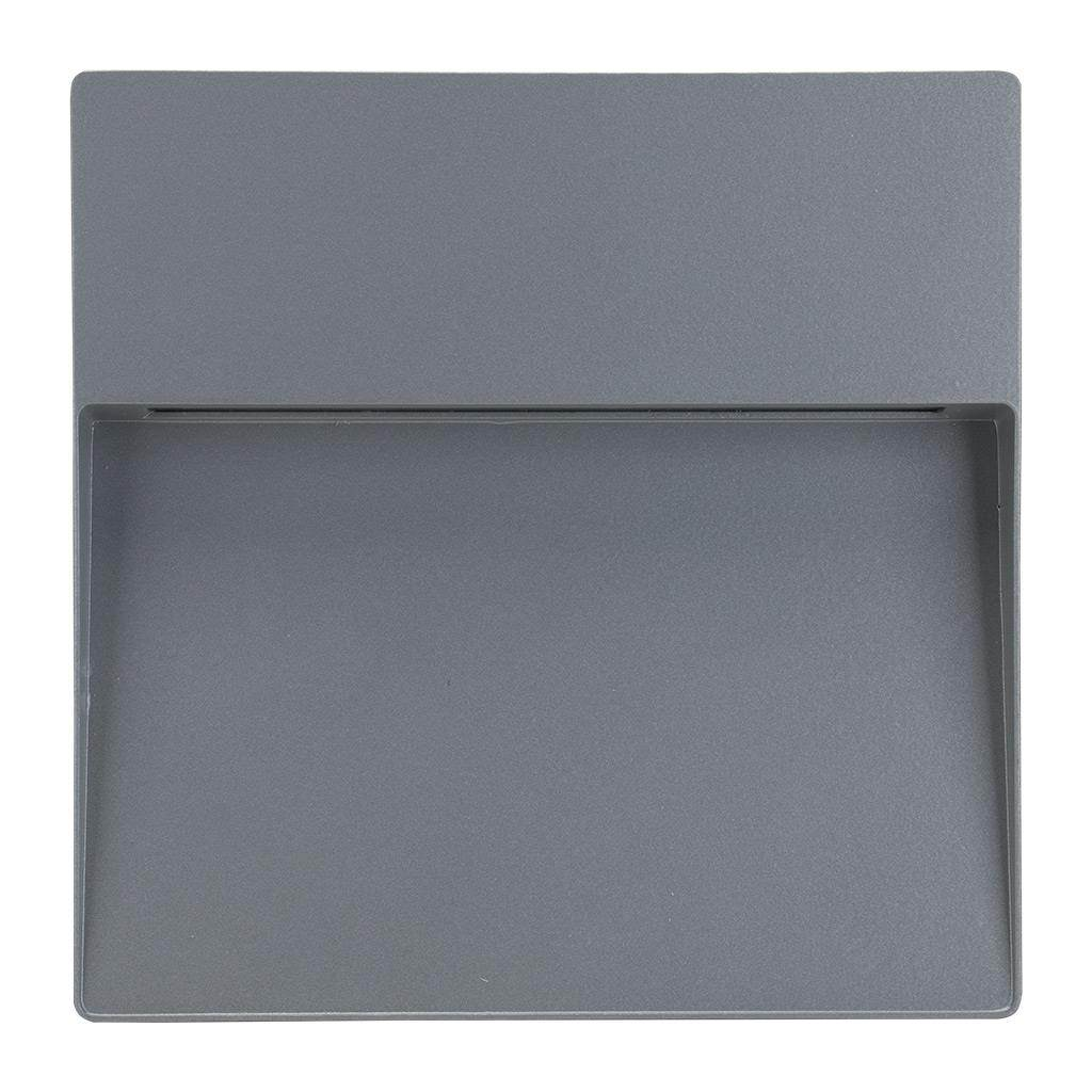 Zeke IP65 Exterior Surface Mounted LED Steplight, 3000K, Maxi  Square, Silver