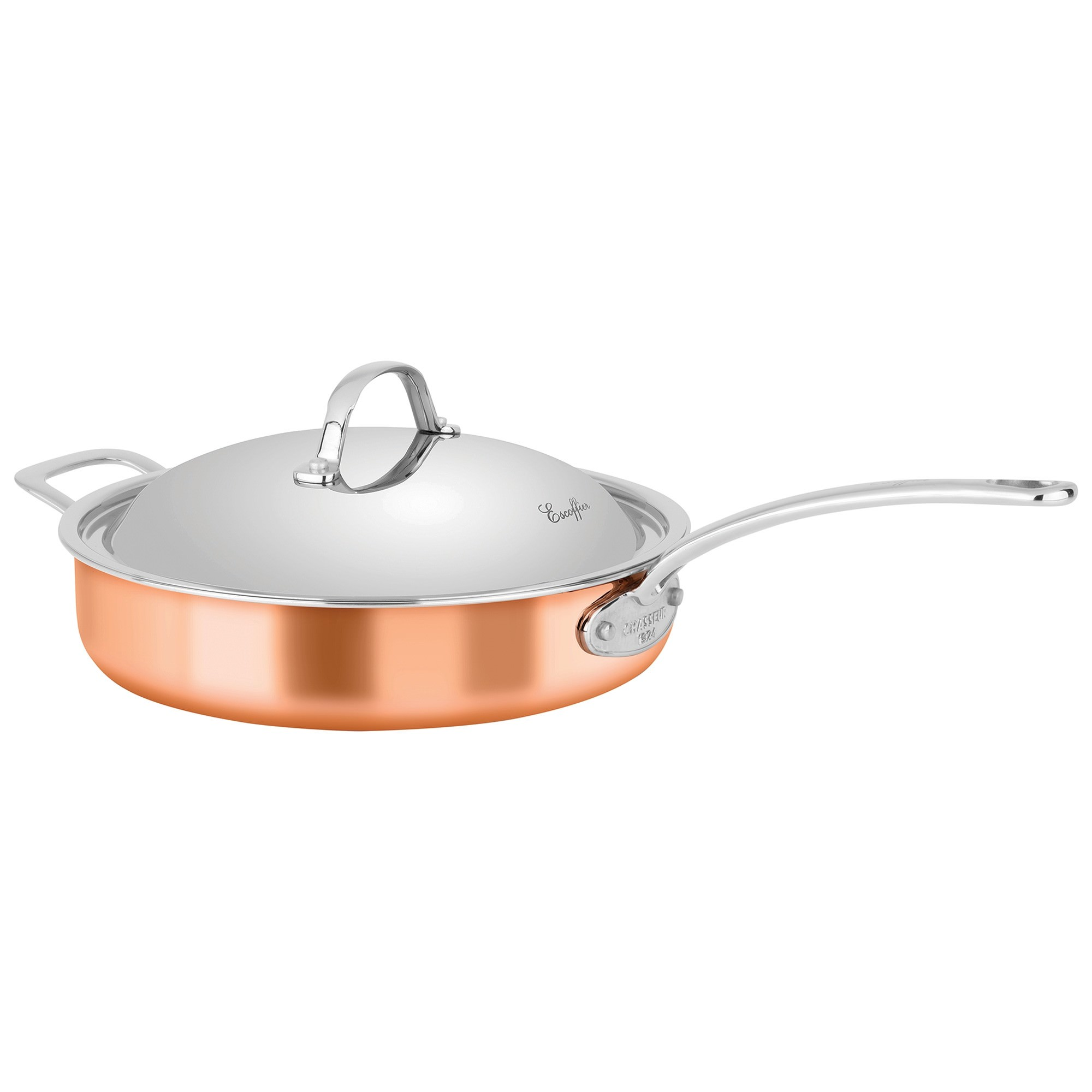 Chasseur Escoffier 28cm Saute Pan with Lid and Helper Handle