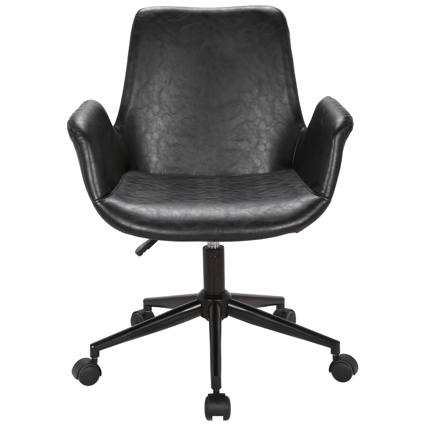 Marseille Faux Leather Office Chair, Black
