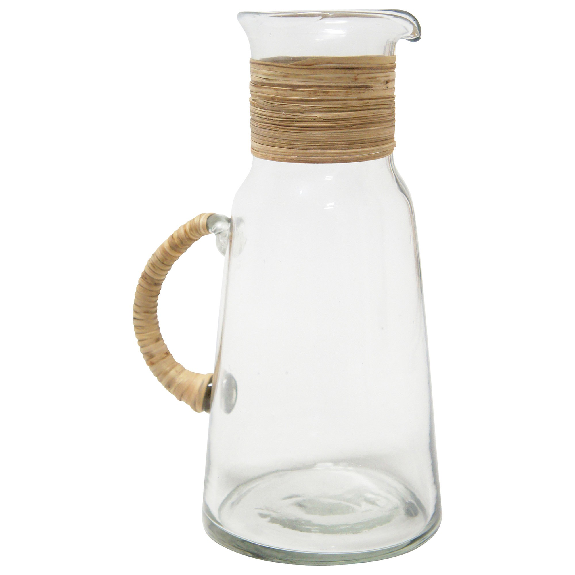 Alejo Glass Jug with Woven Handle