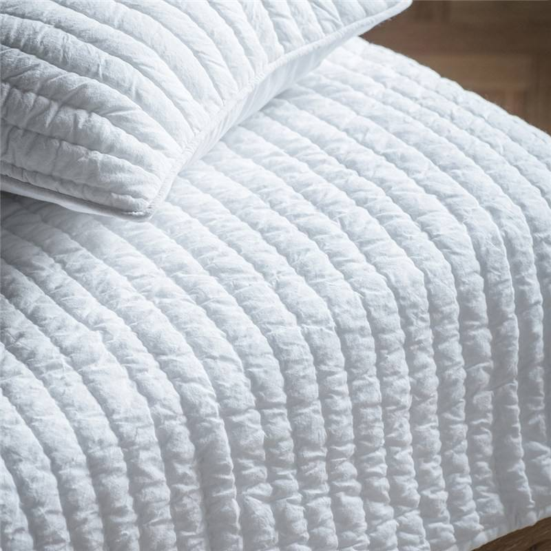 Narni Quilted Cotton Bedspread, White