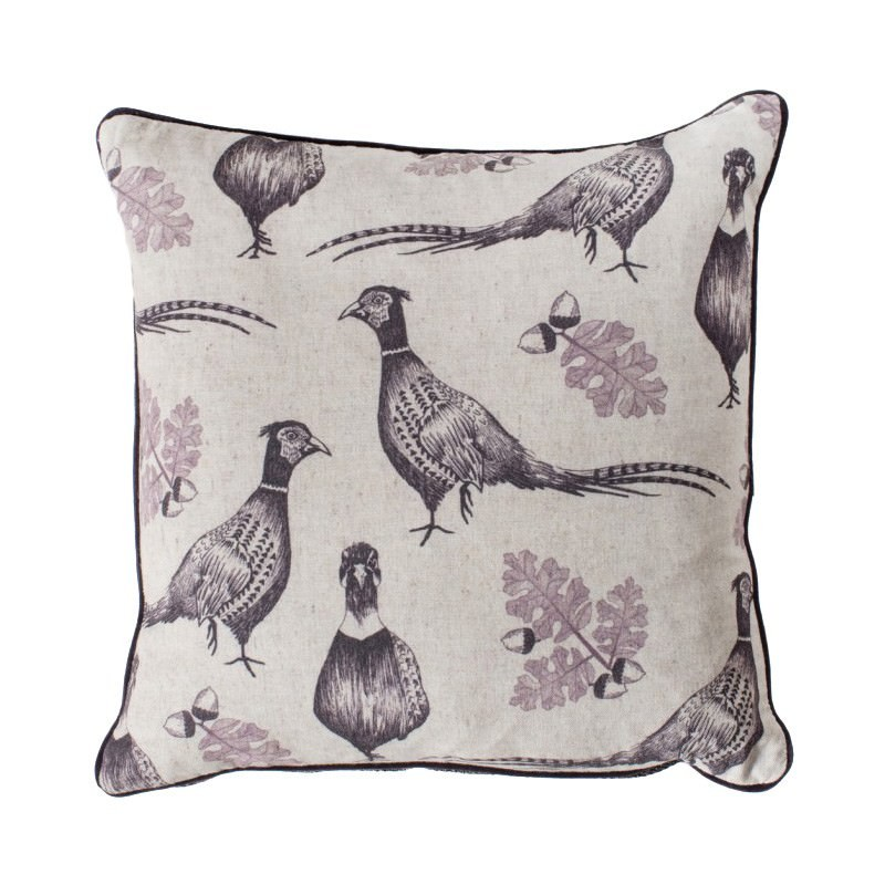 Ripole and Acorn Scatter Cushion, Plum