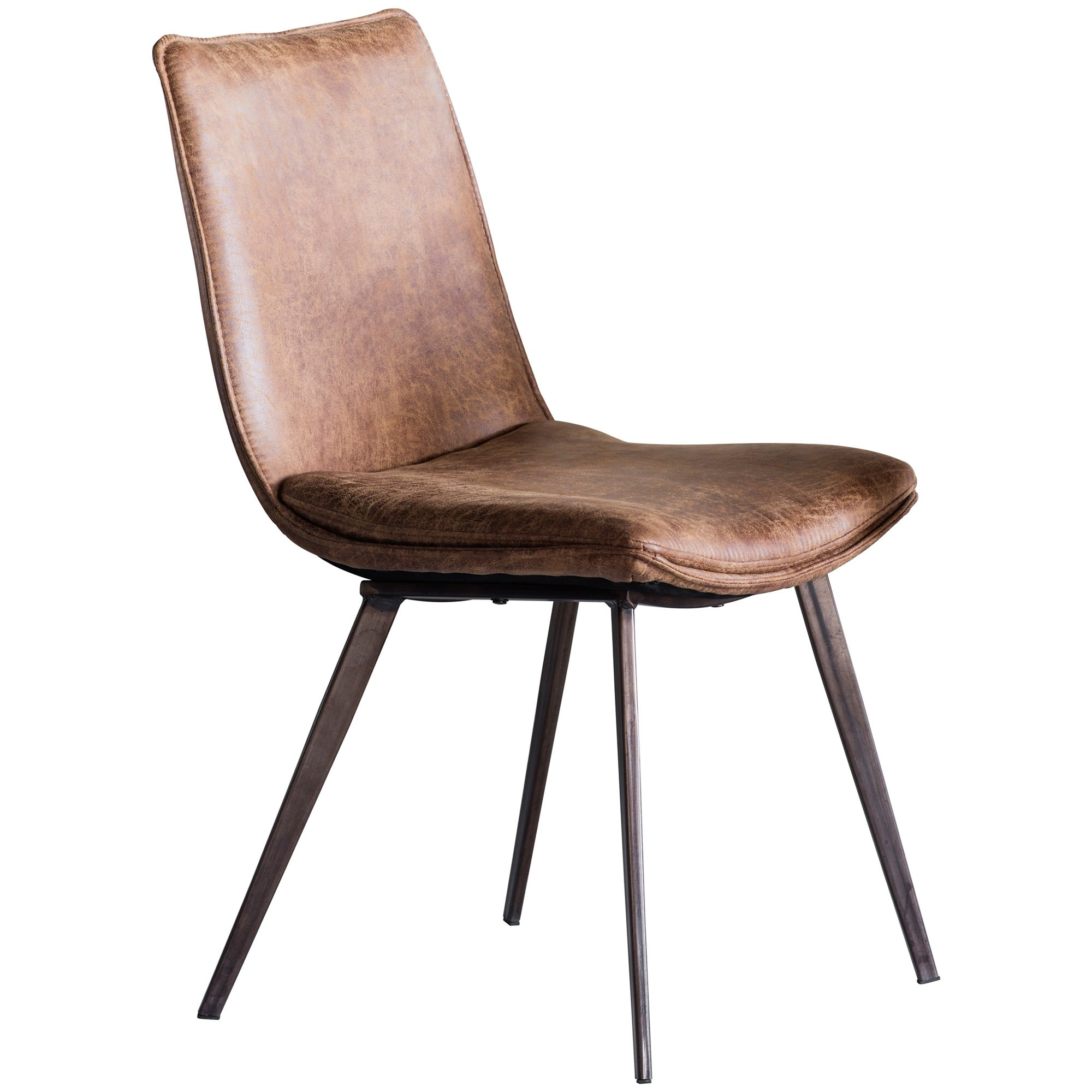 Henrik Faux Leather Dining Chair, Set of 20, Tan