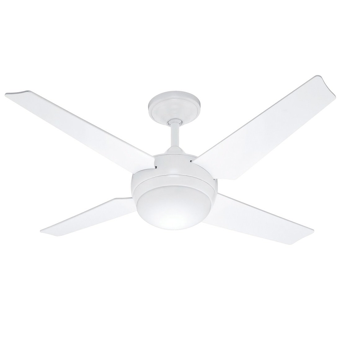 Hunter Sonic Contemporary Ceiling Fan with Light, White with White Blades