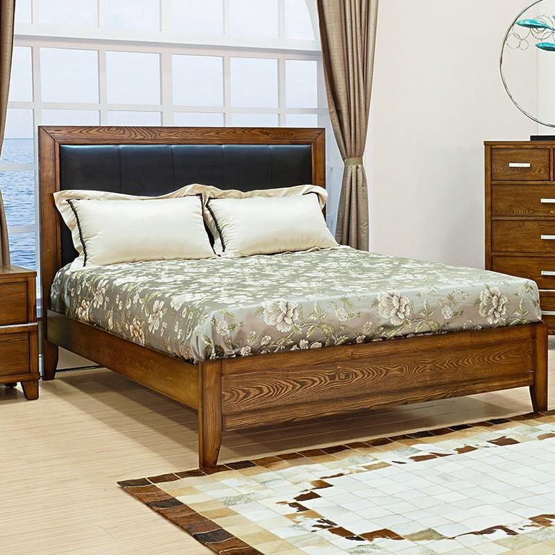 Holmwood Solid Ash Timber Queen Bed