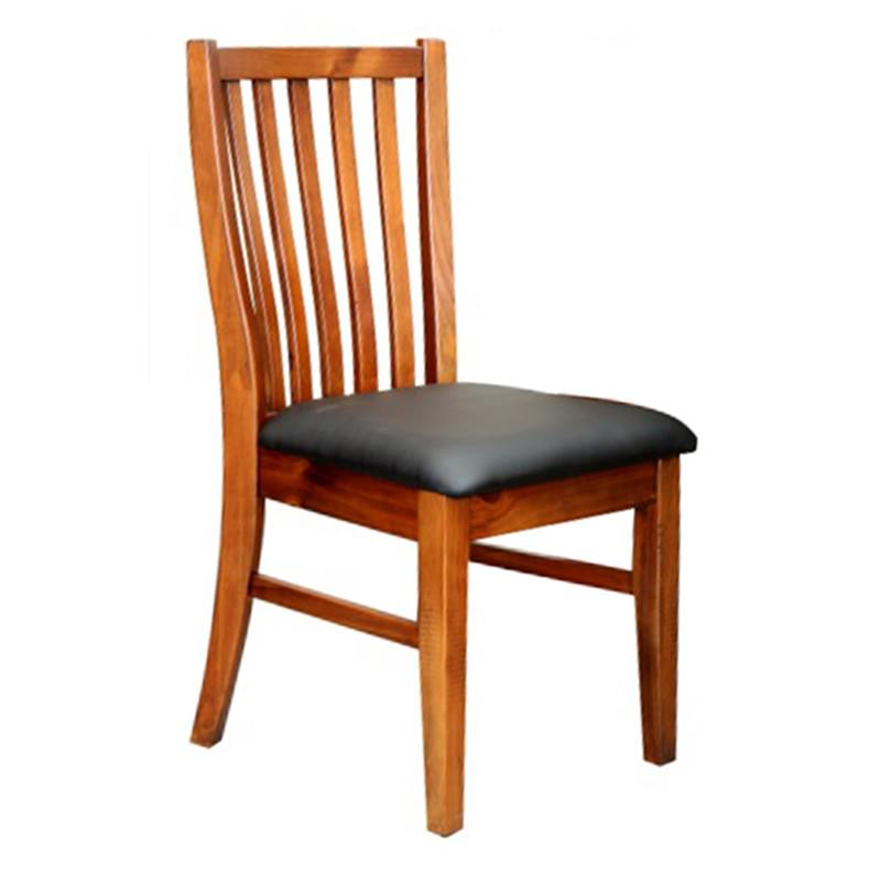 Marni Pine Timber Dining Chair with PU Seat