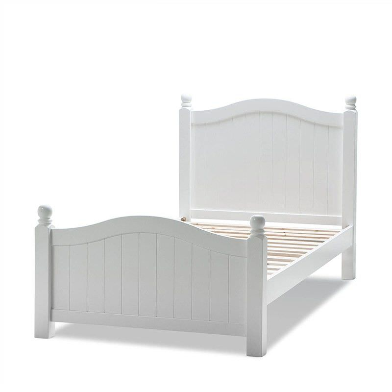 Emma Wooden Single Bed - White