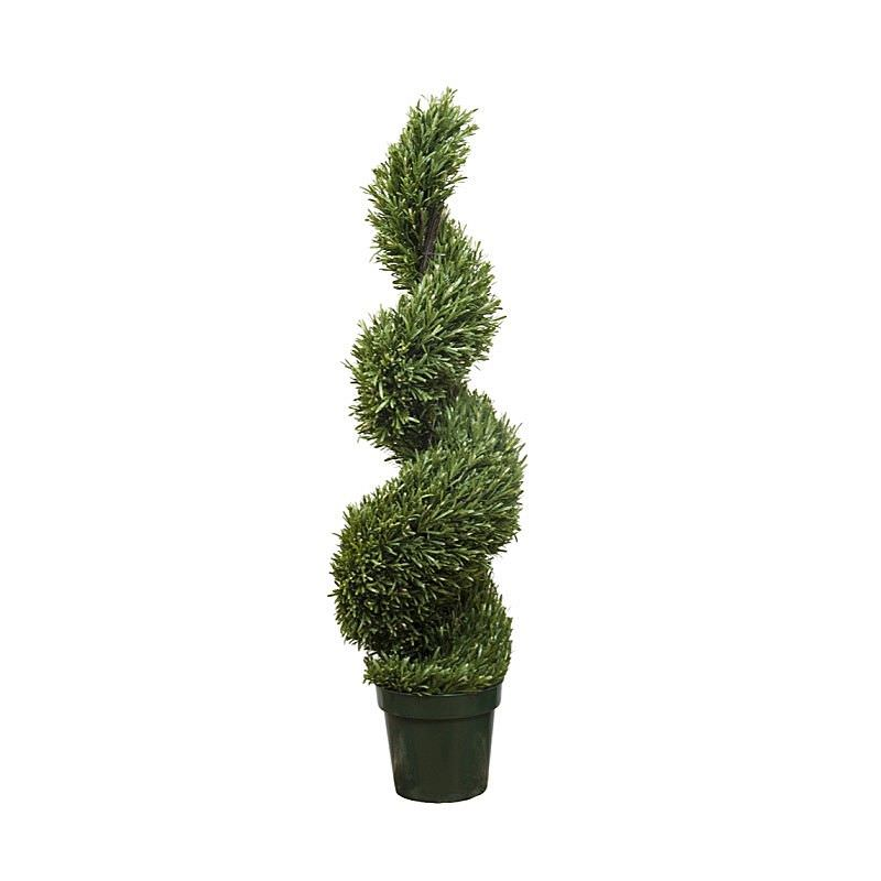 Artificial Rosemary Spiral Topiary Tree, 120cm