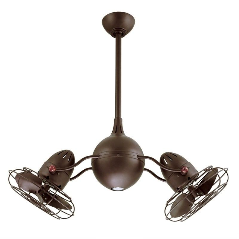 Atlas Acqua Metal Ceiling Fan with Safety Cage -  Bronze