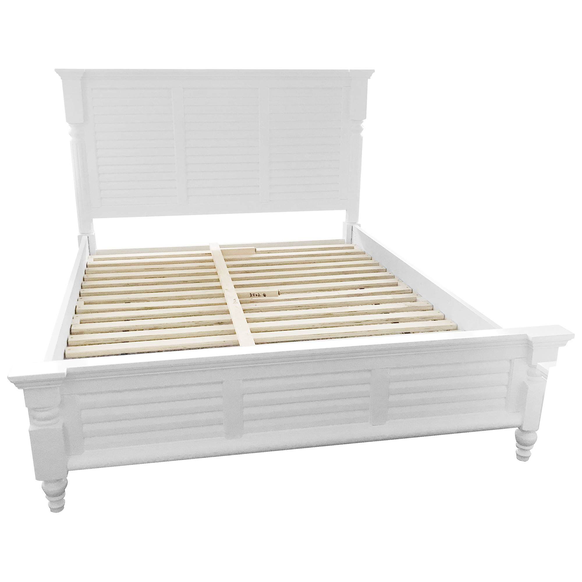 Fitzroy Poplar Timber Bed, Queen, White