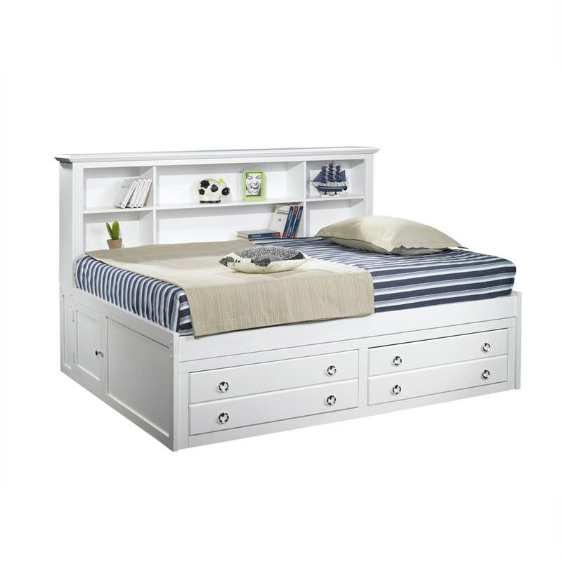 Victoria II Wooden King Single Lounge Bed with Storage