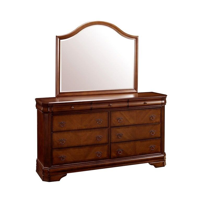 Sherwood Solid American Poplar Timber Dressing Table with Mirror