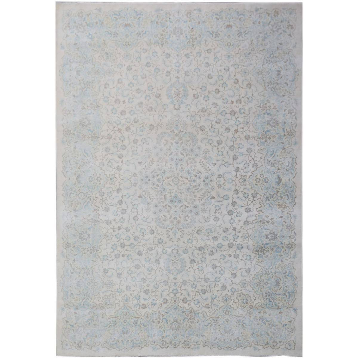 One of A Kind Amaya Hand Knotted Wool Vintage Persian Kerman Rug, 404x288cm