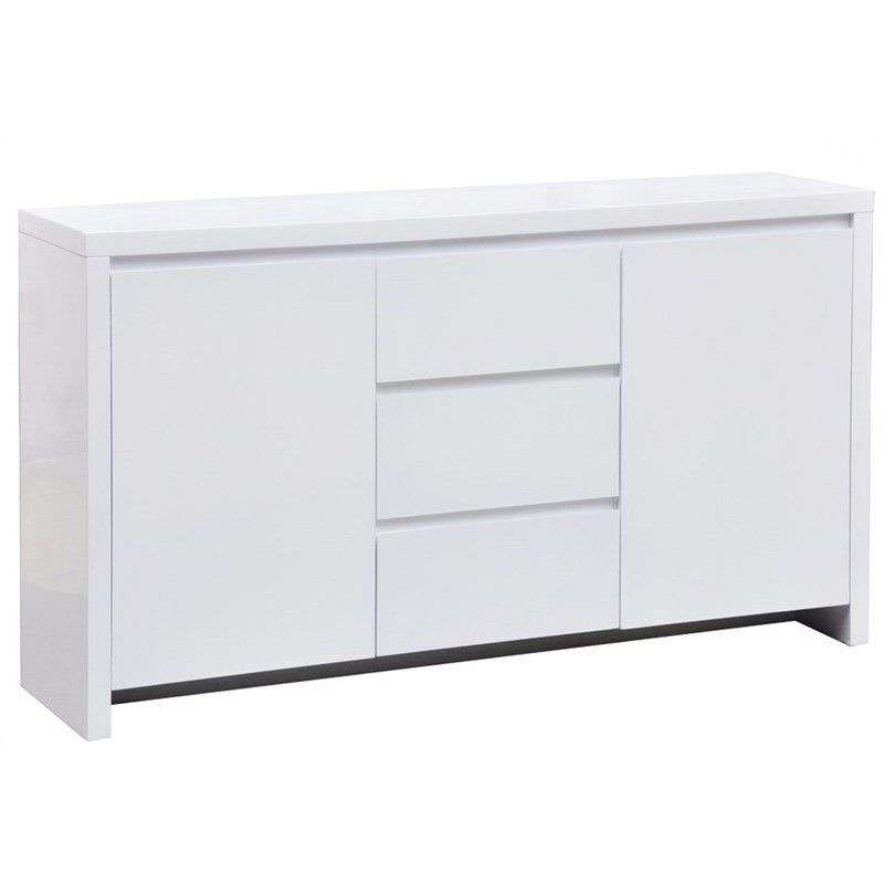 Whitney Wooden Buffet Table, White