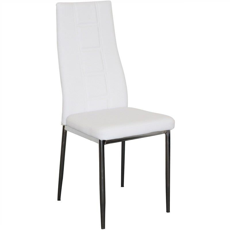 Neptune Faux Leather Upholstered Dining Chair - White