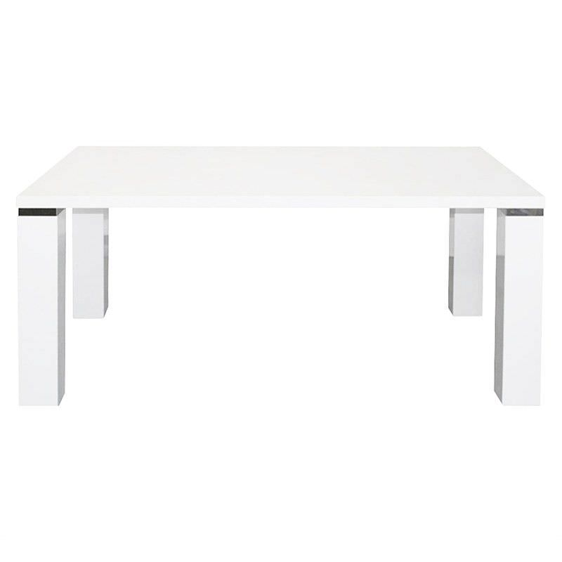 Whitney Wooden Chunky 160cm Dining Table - White