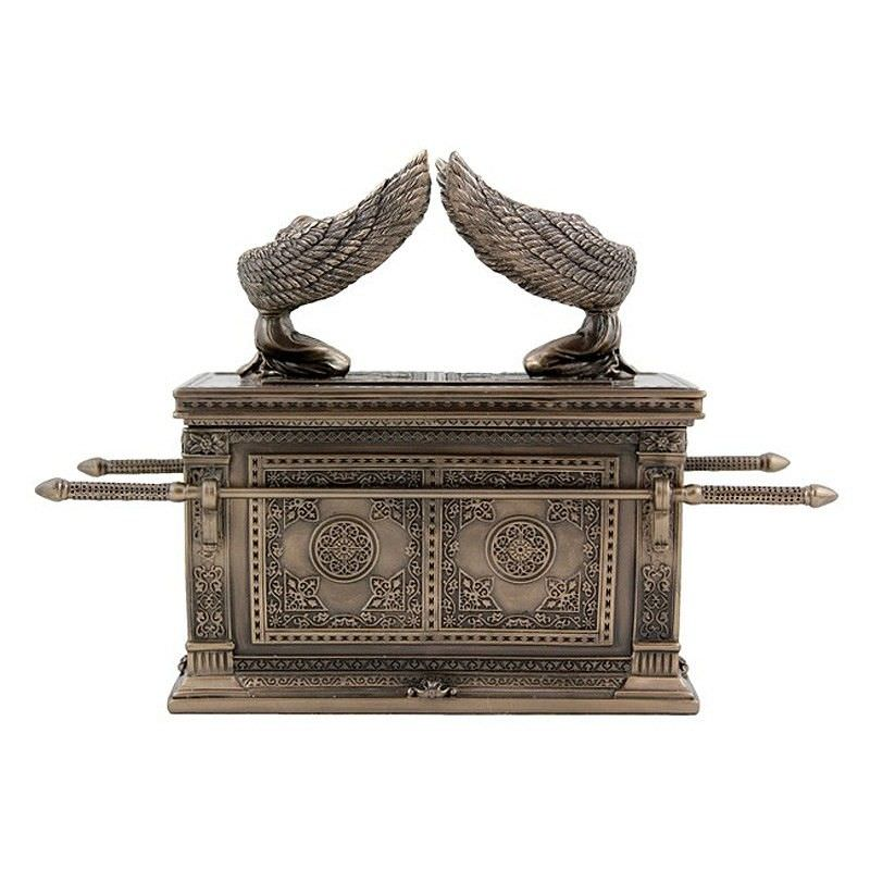 Veronese Cold Cast Bronze Coated The Ark of the Covenant Treasure Box