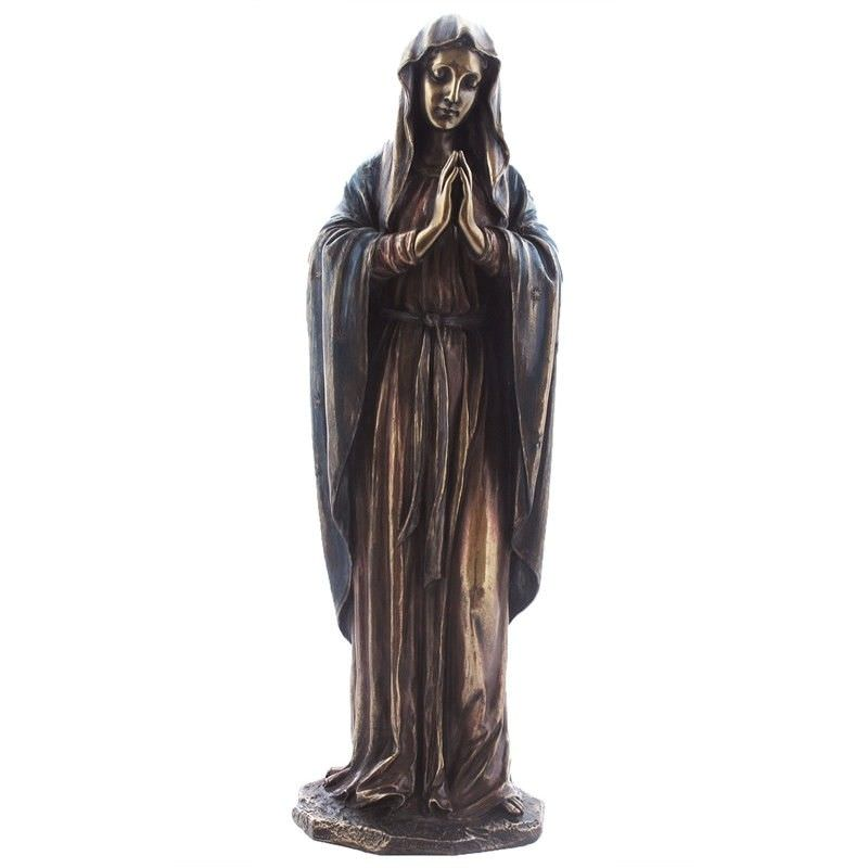 Veronese Cold Cast Bronze Coated Figurine, Our Lady Mary