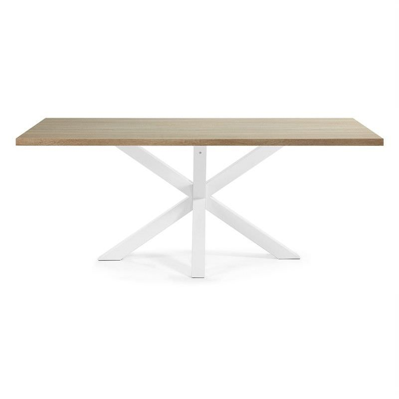 Bromley Engineered Wood & Epoxy Steel  Dining Table, 180cm, Natural / White
