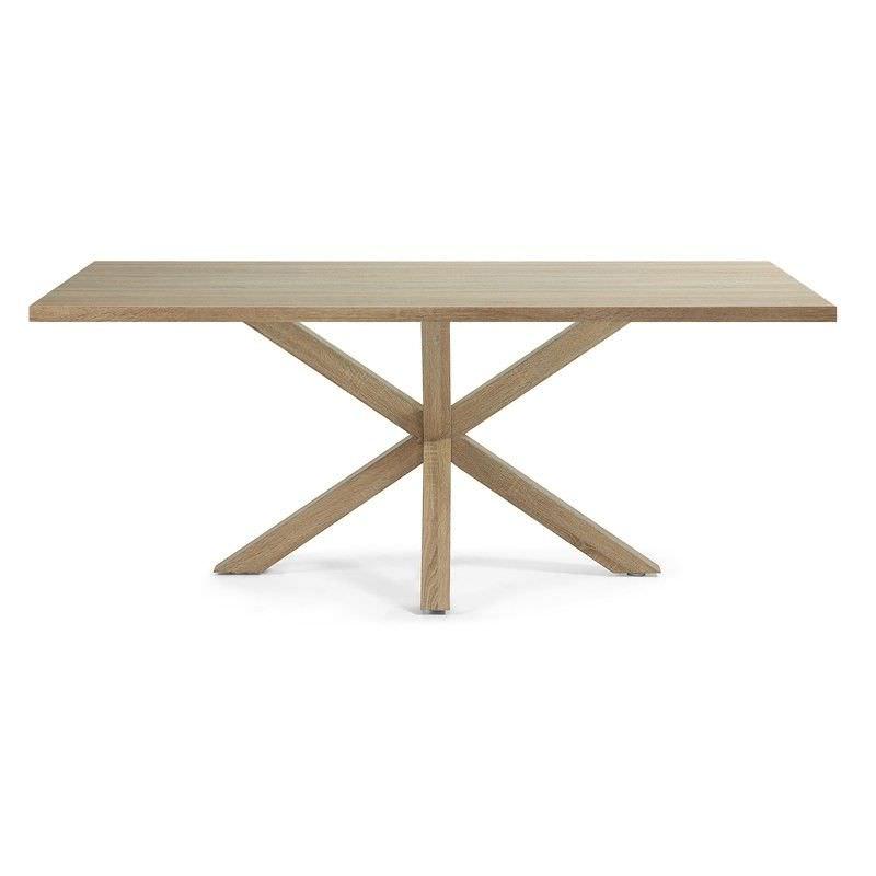 Bromley Engineered Wood & Steel Dining Table, 180cm, Natural