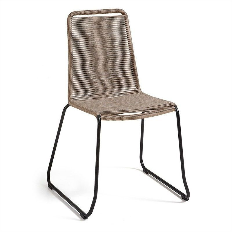 Balliol Stackable Indoor / Outdoor Dining Chair, Taupe