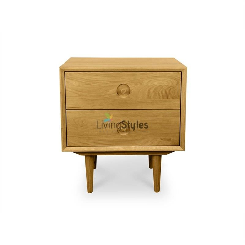 Weistad 2 Drawer Bedside Table - Natural