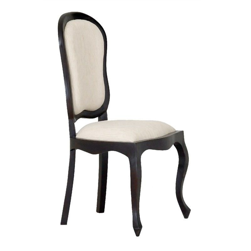 Queen Ann Solid Mahogany Timber Dining Chair - Chocolate