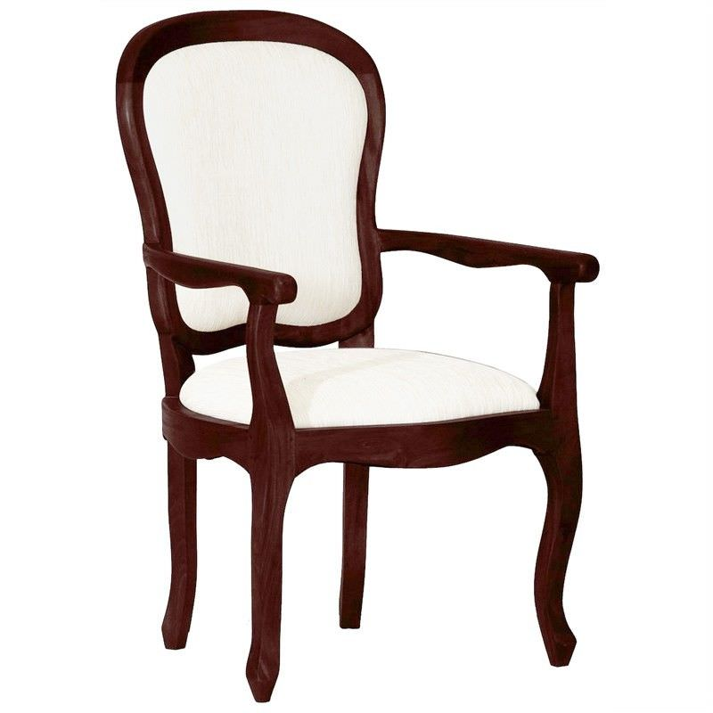 Queen Ann Solid Mahogany Timber Dining Armchair - Chocolate