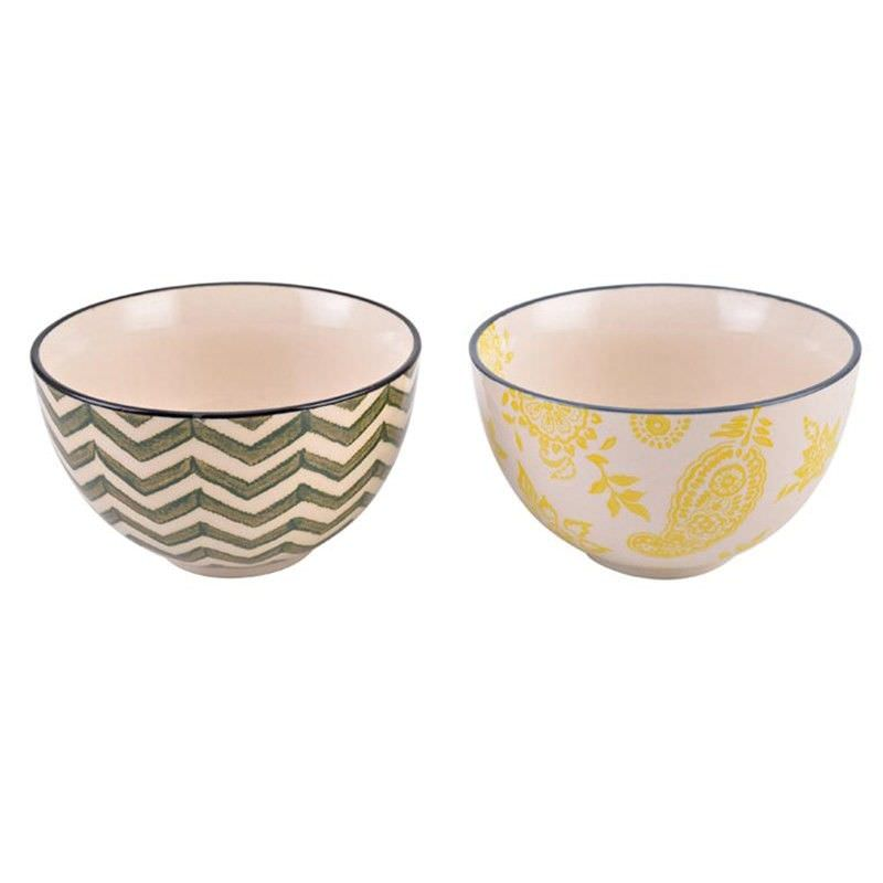 Set of 2 Stoneware Bowls in Gift Box