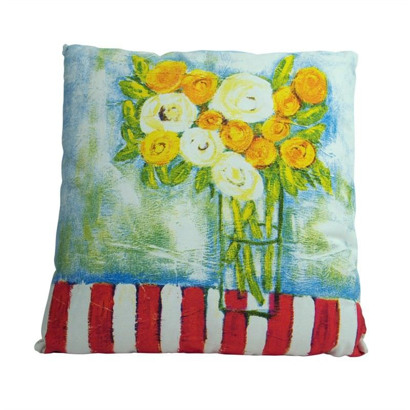 Kellie Floral Printed Cotton Pillow - Style B