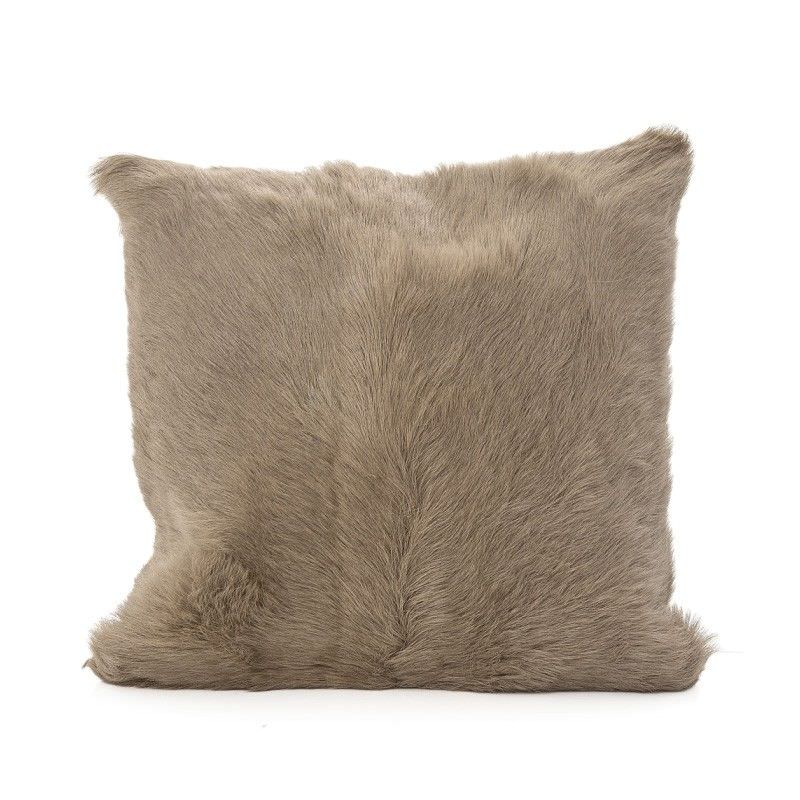 Petra Goat Fur Scatter Cushion, Taupe