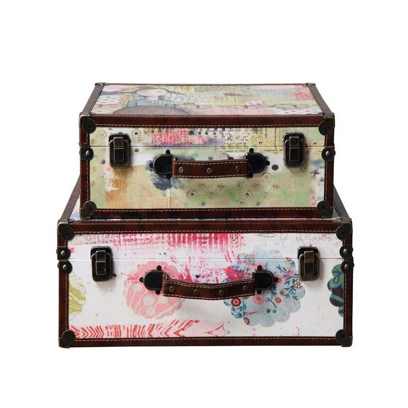 Penelope Set of 2 Assorted Suitcases