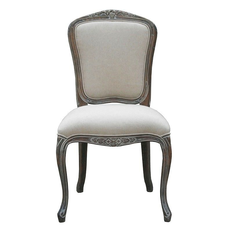 Louis XV Fabric Upholstered Beech Timber Dining Chair