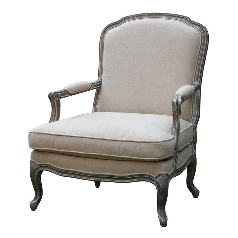 Louis XV Fabric Upholstered Beech Timber Bedroom Chair