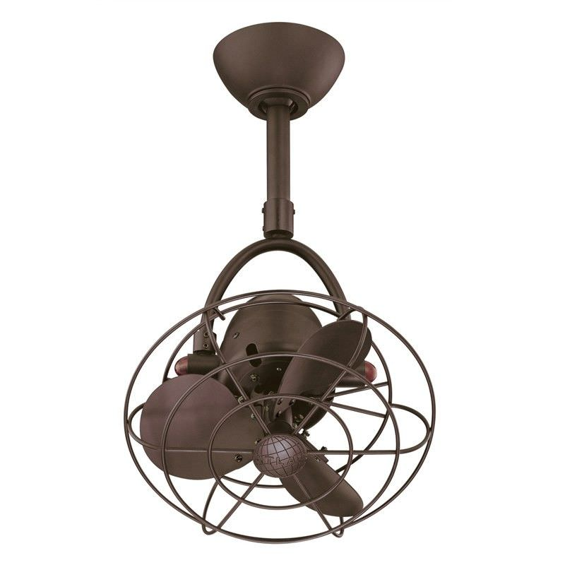 Atlas Diane Metal Ceiling Fan with Safety Cage -  Bronze