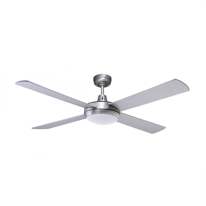 Martec Lifestyle 4 Plywood Blade Fan (DLS1343B) with Dimmable 3000K 24W LED Light in White - 130cm