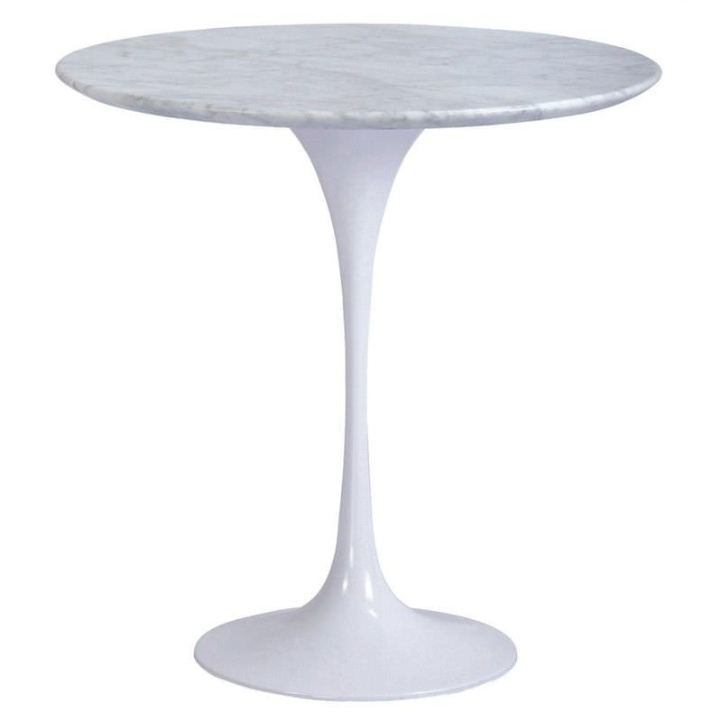 Replica Tulip Marble Top Round Side Table