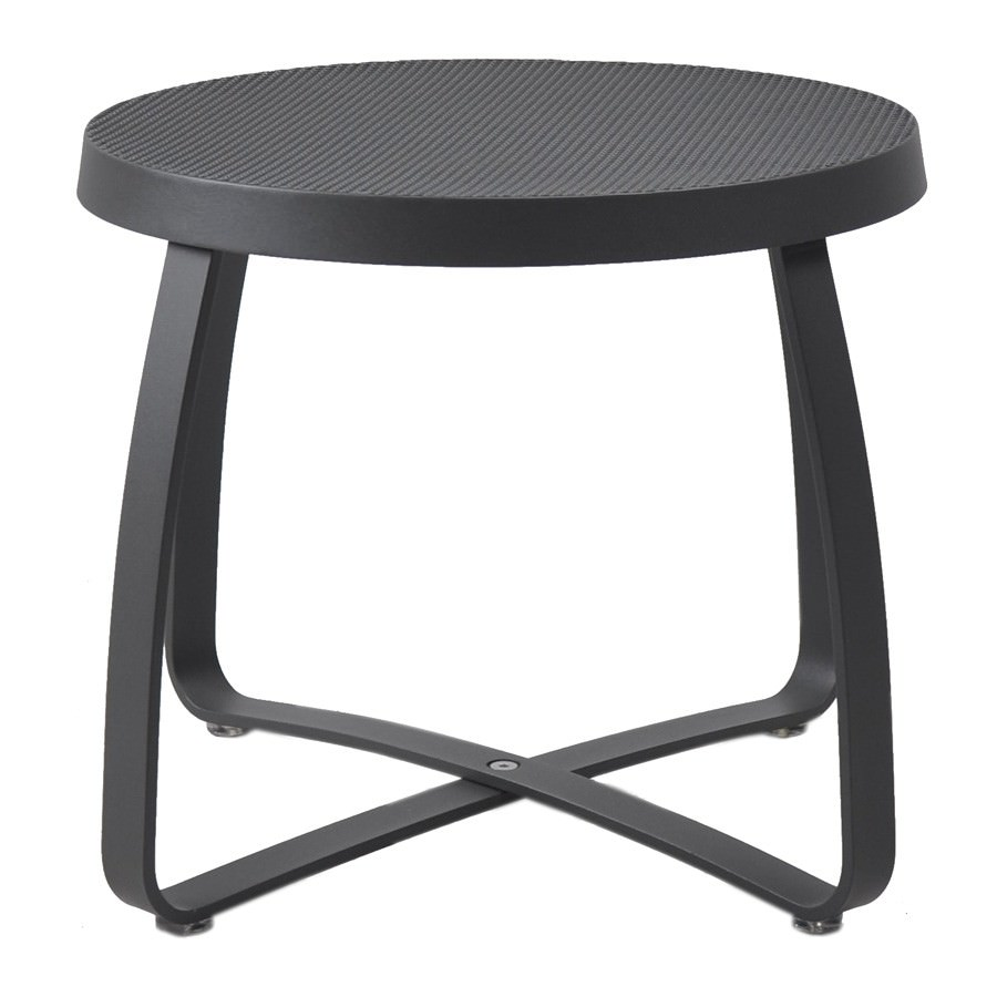 Movida Metal Outdoor Round Side Table, Anthracite