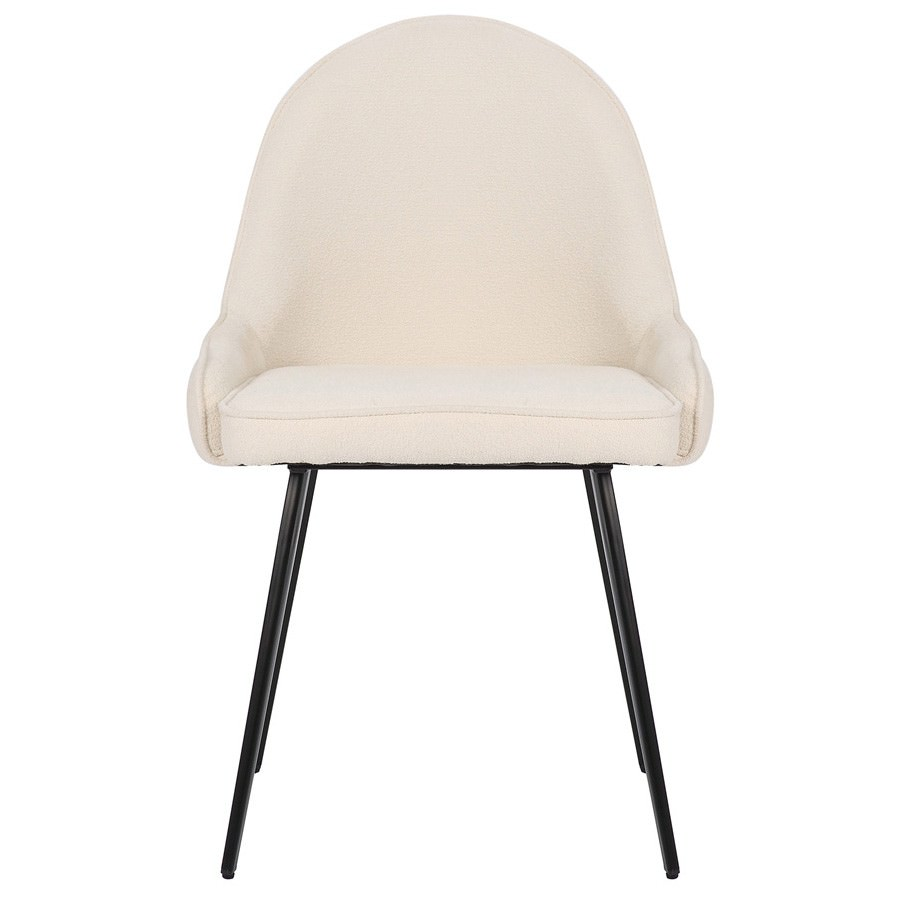 Dane Commercial Grade Boucle Fabric Dining Chair, Cream