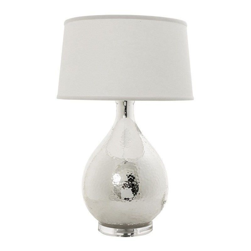 Halifax Acrylic Table Lamp with Ivory Linen Shade