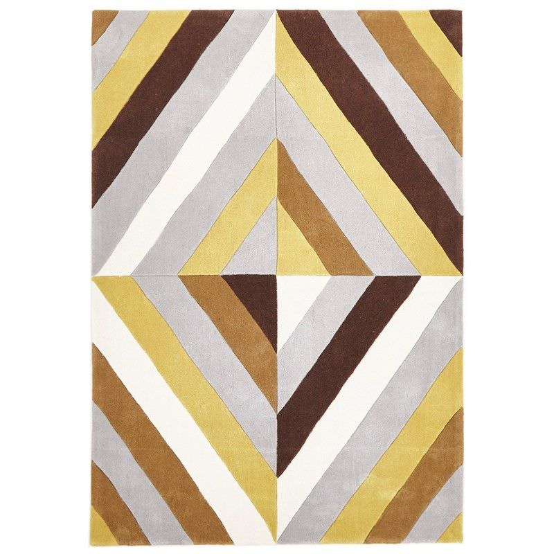 Narris Prism Hand Tufted Rug in Yellow Tone - 225x155cm