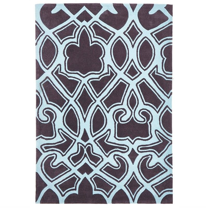 Narris Gothic Tribal Hand Tufted Rug in Smoky Grey - 225x155cm