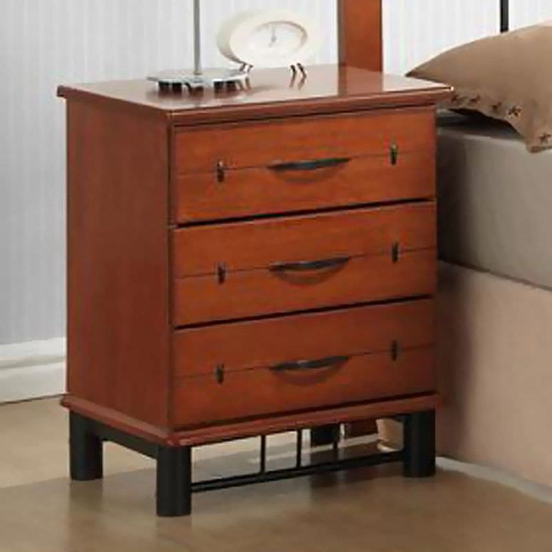 York Rubber Wood Bedside Table