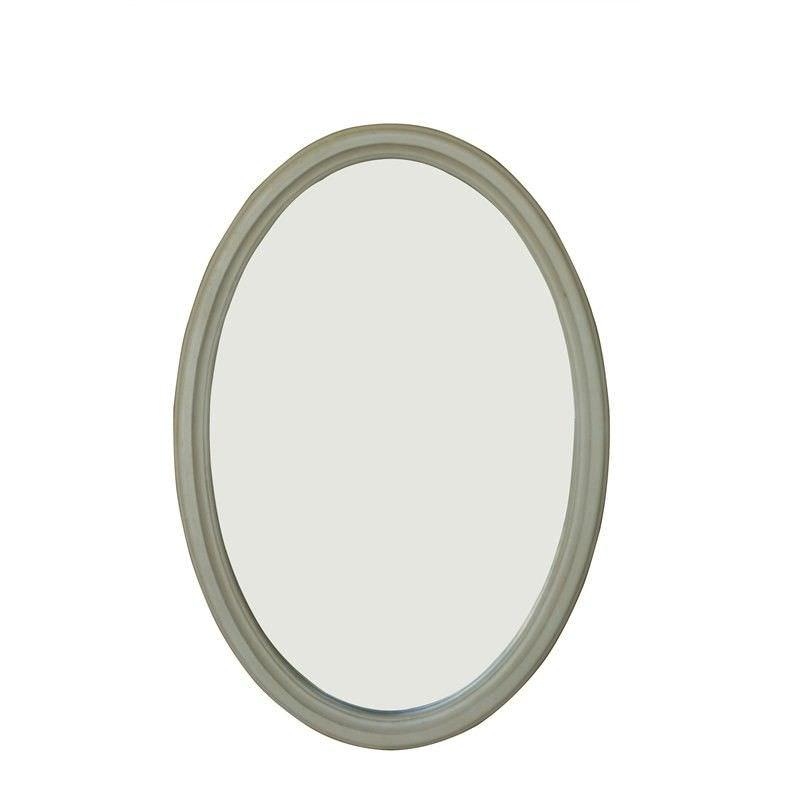 Cherilyn Solid Beech Timber Frame 80cm Oval Wall Mirror