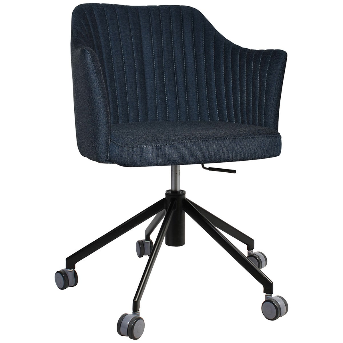 Coogee Commercial Grade Gravity Fabric Gas Lift Office Armchair, Navy / Black