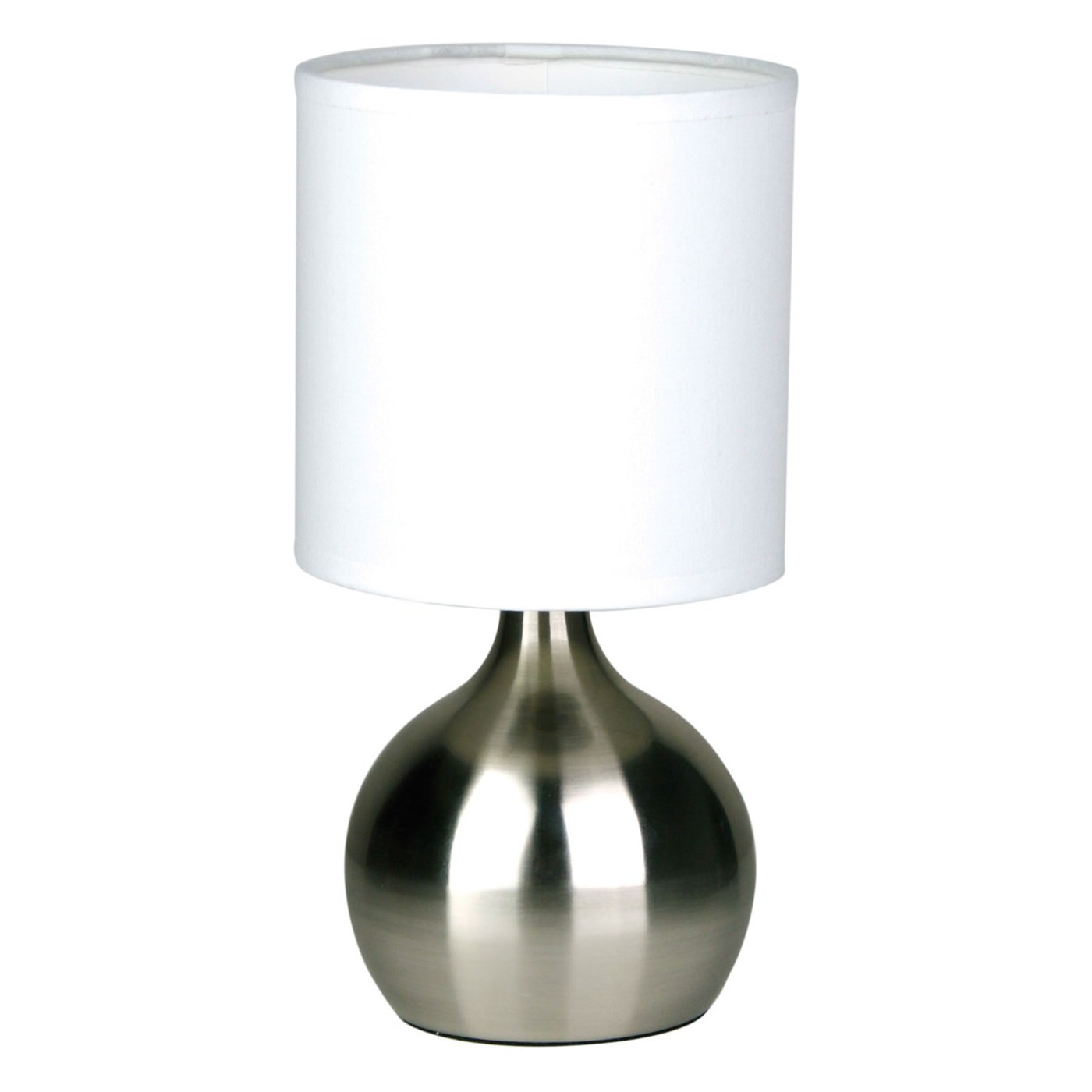 Lotti 3 Stage Touch Table Lamp, Brushed Chrome